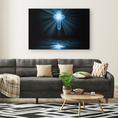 The light of the cross - Rectangle Gallery Canvas art