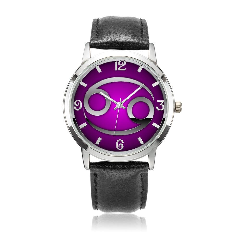 Zodiac Cancer design genuine Leather 32mm / 38mm automatic water resistant Quartz wrist watch