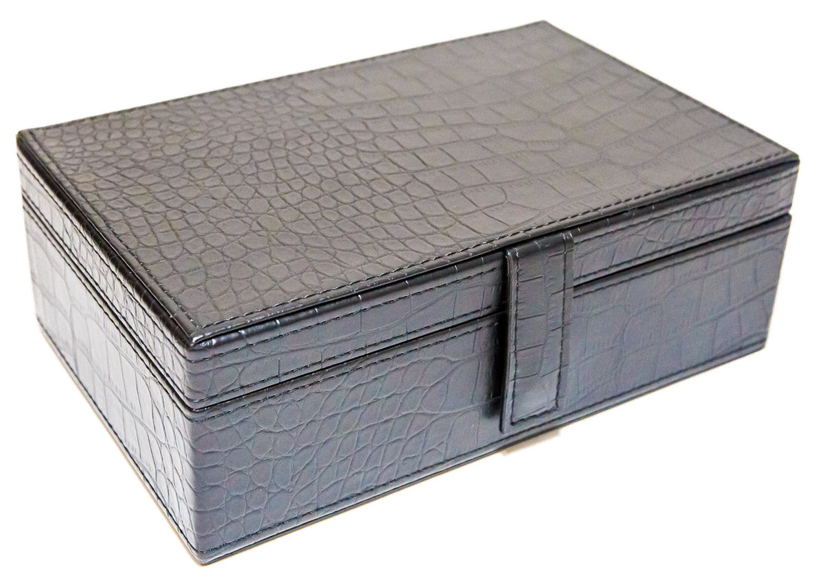 Jumbo Size Double Nine Dominoes Set with leatherette case