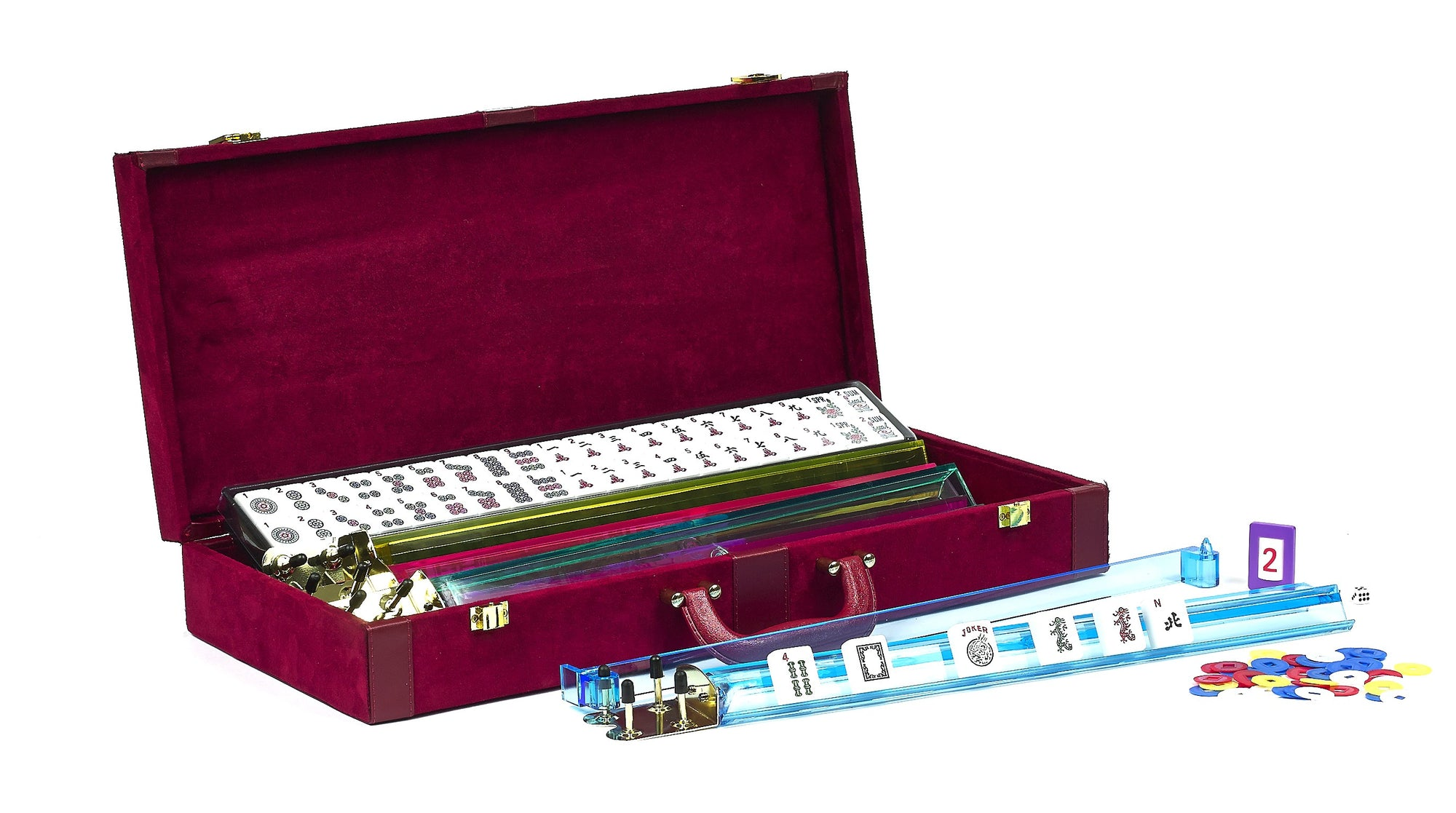 Deluxe American Mah-Jong Set with Velour case and leatherette trim