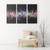 The vibration of music notes - 3 Piece Canvas gallery art