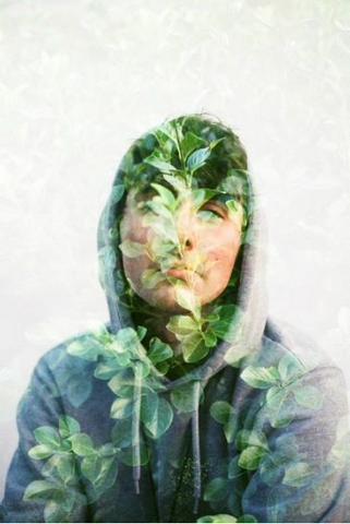 film double exposure portrait by brooke fitzwater