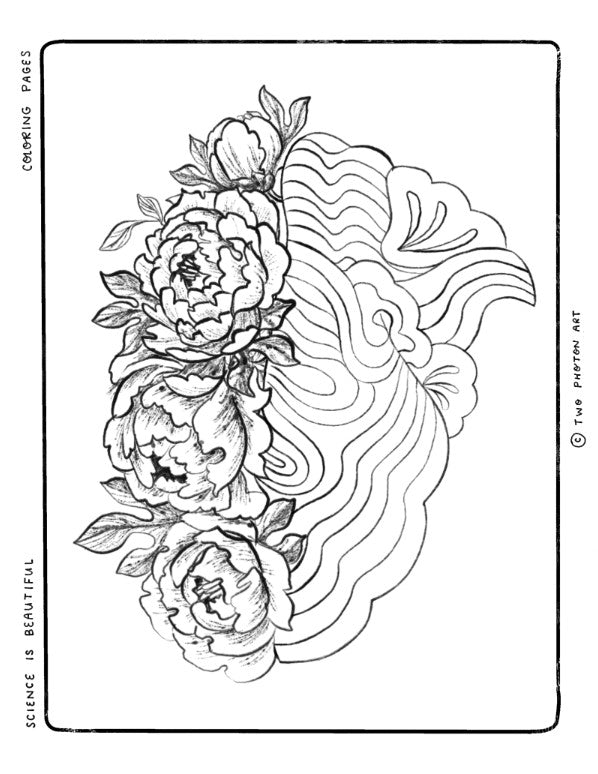 Flower Brain Coloring Page