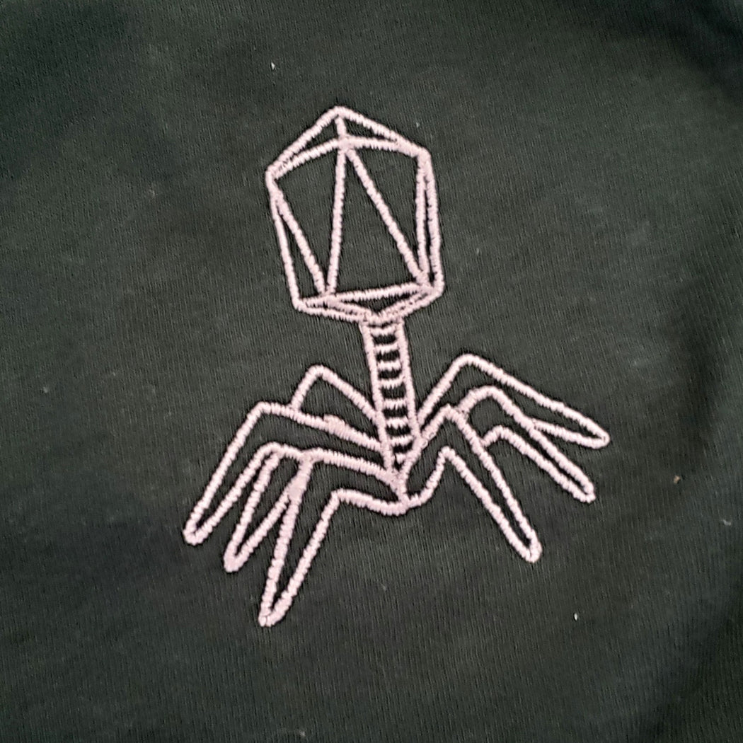 Embroidered Bacteriophage T-Shirt