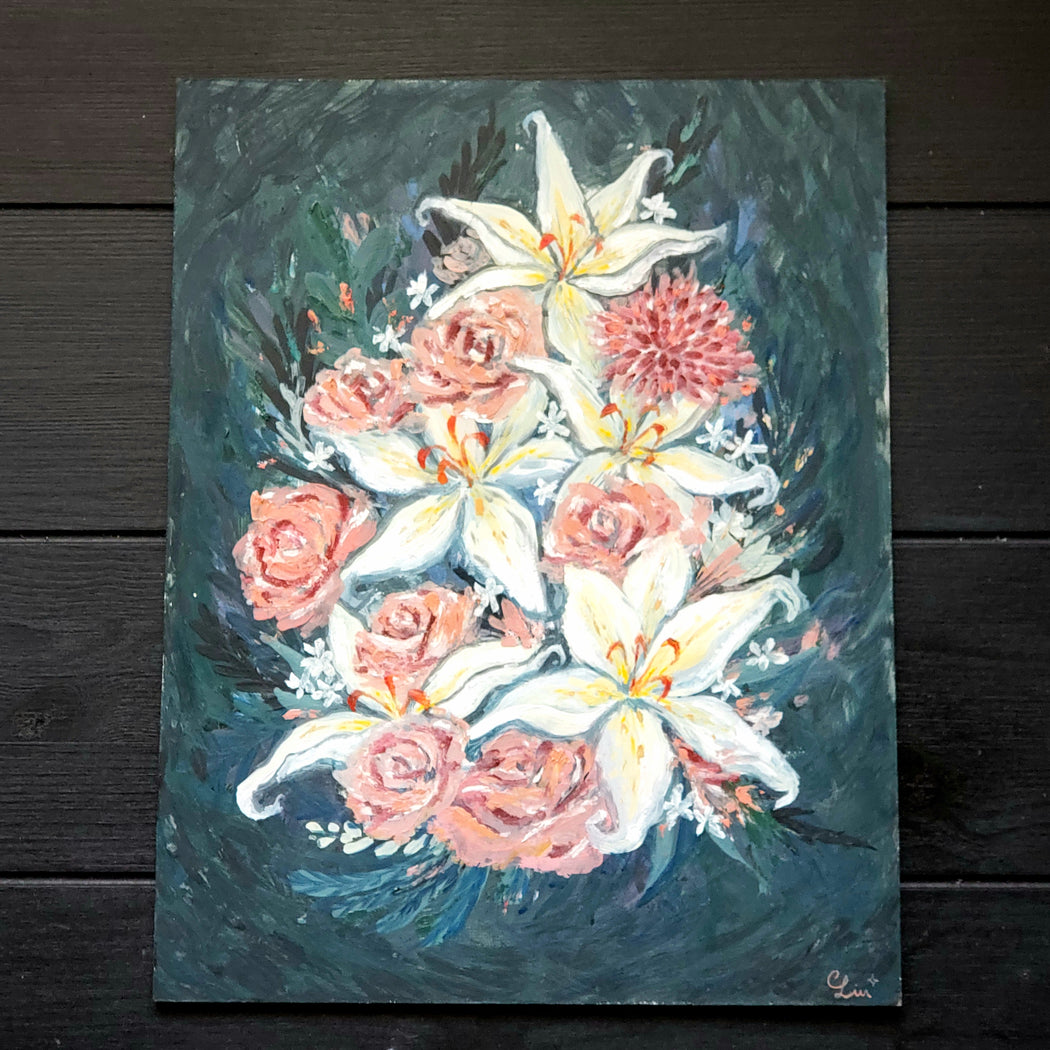 Flowers for Wanda Oil Painting