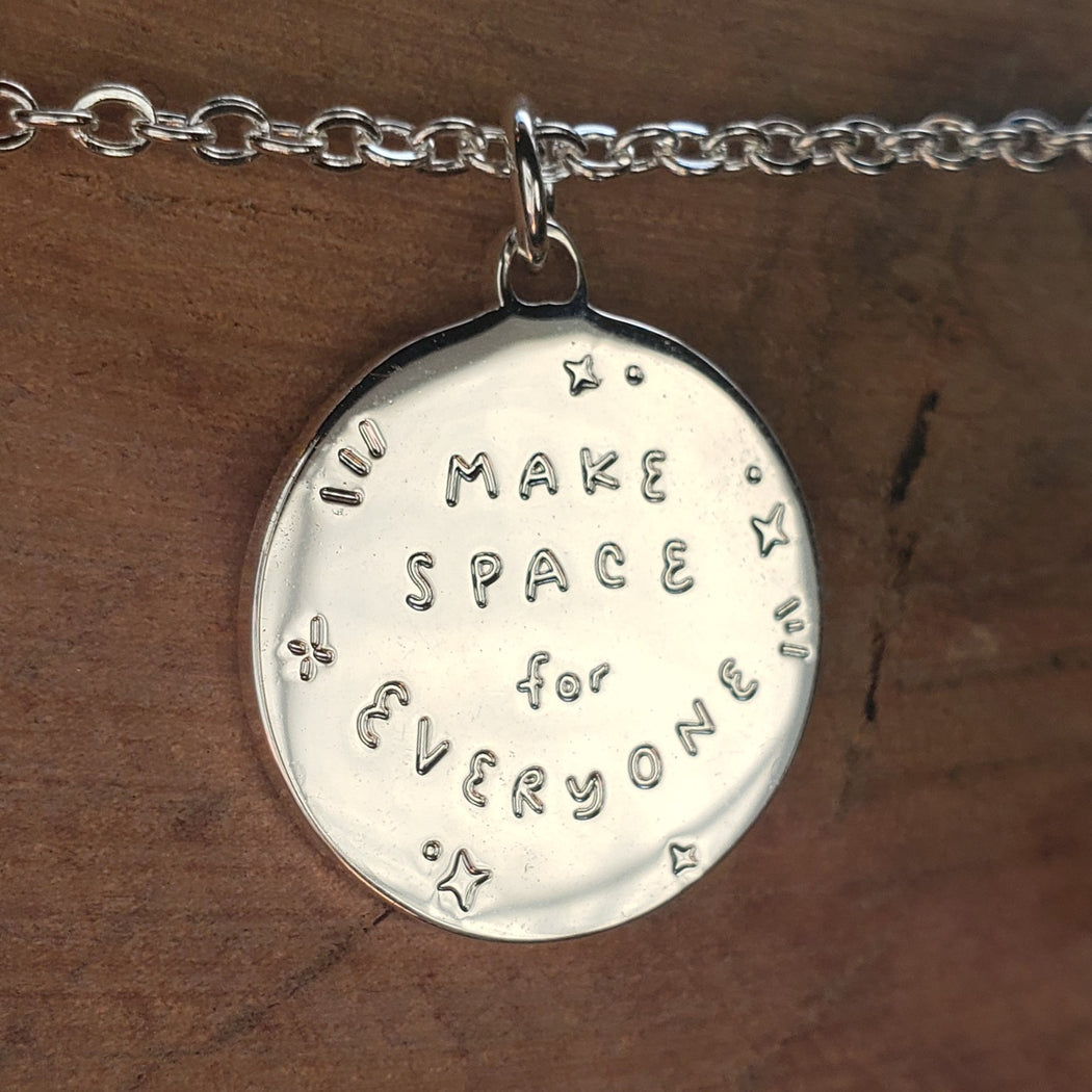 Make Space for Everyone Moon Necklace