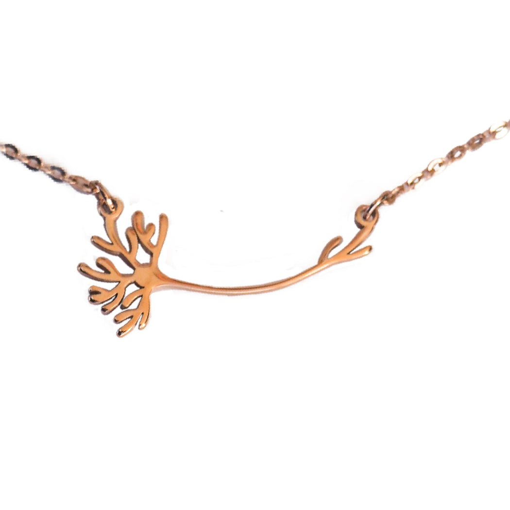 Neuron Necklace - Rose Gold