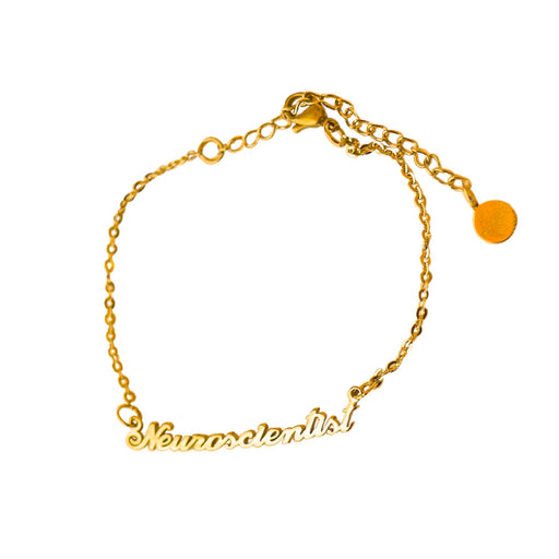 Neuroscientist Nameplate Bracelet - Gold