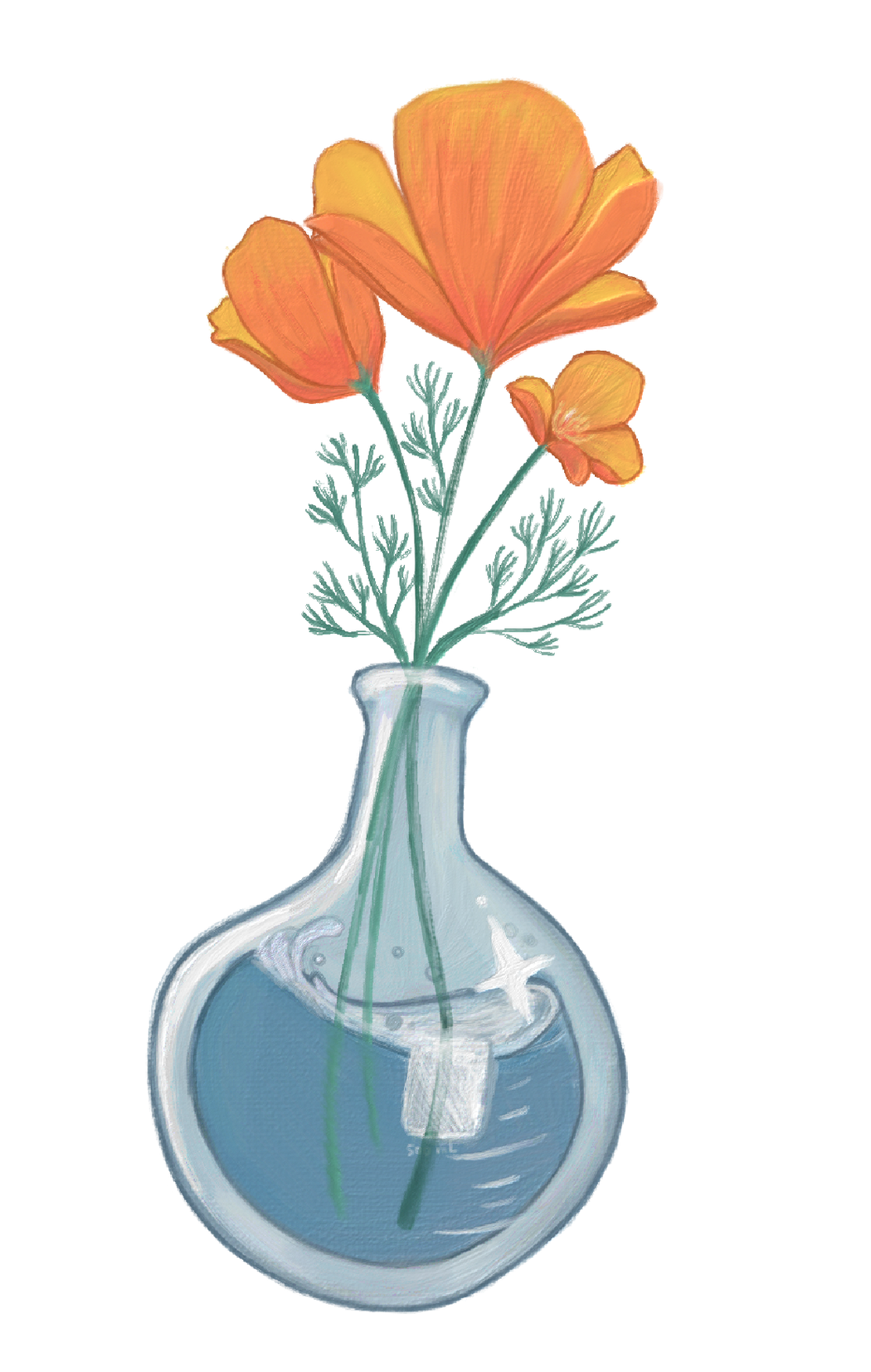 Flower Lab Flask XL Sticker
