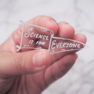 Science is for Everyone - Team Science Pennant Sticker