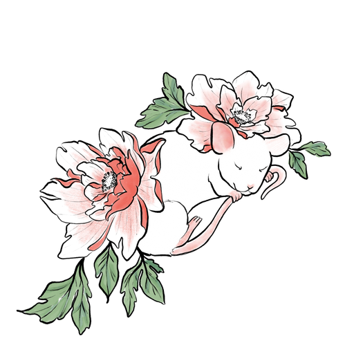 Floral Lab Rat Sticker
