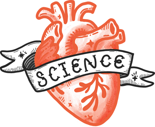 Science Heart Sticker