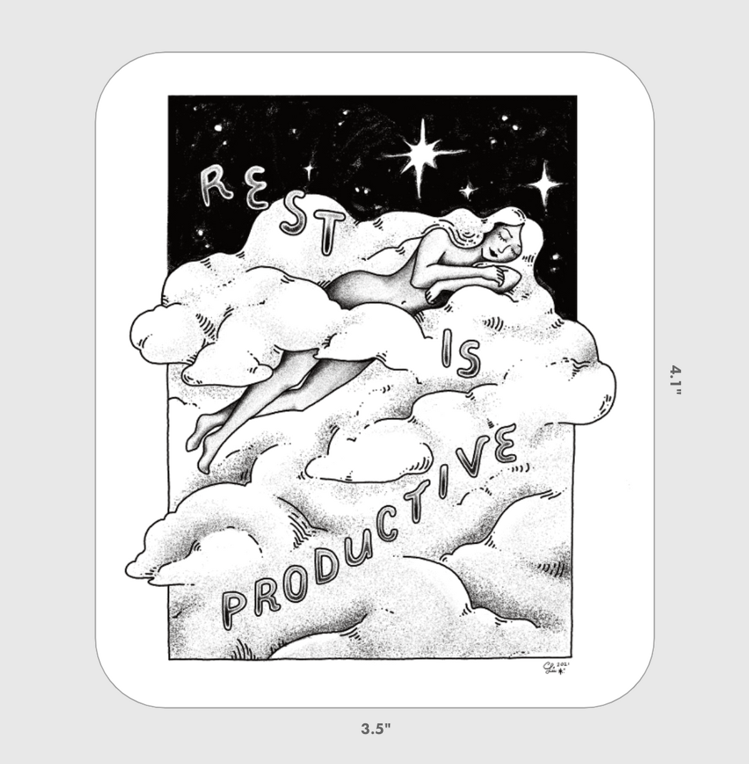 Rest is Productive XL Sticker