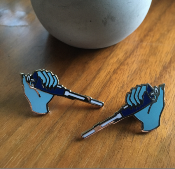 2 pin set - Blue Pipette Pins