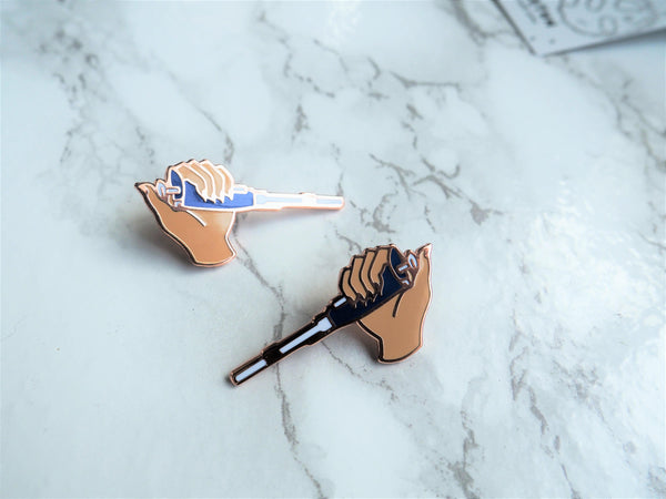 2 pin set - Beige Pipette Pins