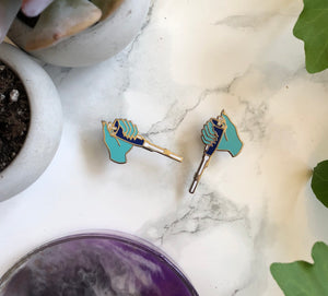 2 pin set - Turquoise Pipette Pins