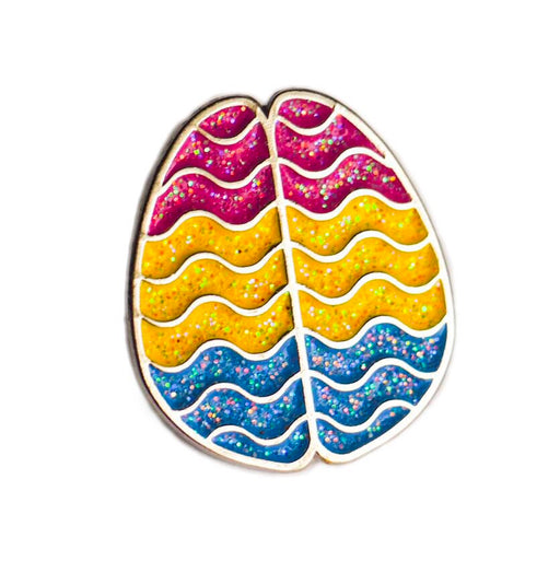 Pan Horizontal Brain Enamel Pin