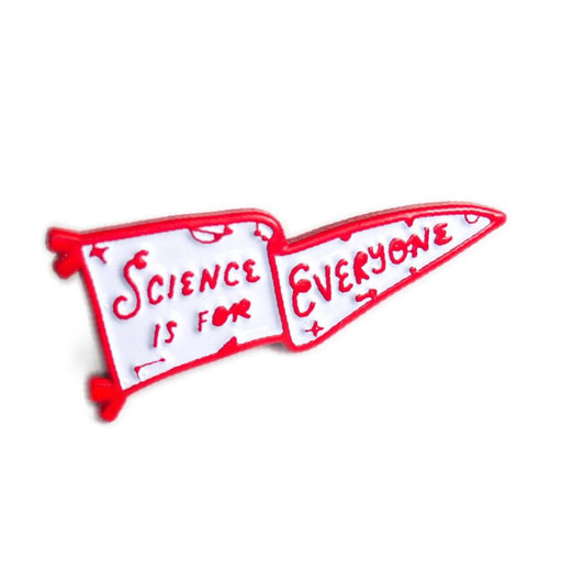 Science is for Everyone Pennant Enamel Pin - Red