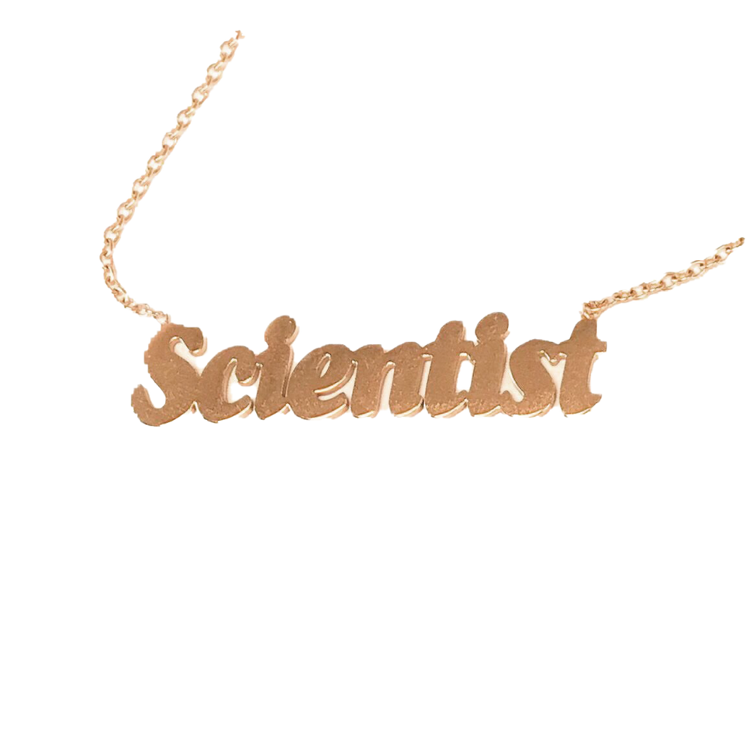 Scientist Nameplate Choker Necklace
