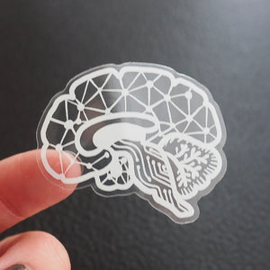 Transparent Brain Sticker