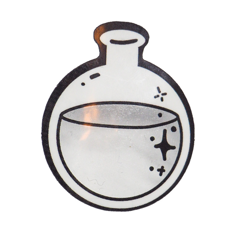 Transparent Round Bottom Flask Sticker