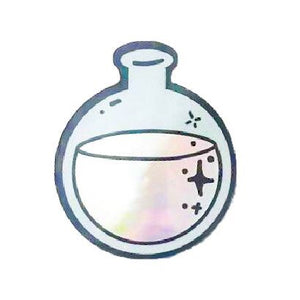 Holographic Round Bottom Flask Sticker