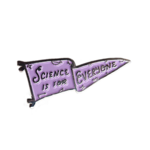 Science is for Everyone Pennant Enamel Pin - Lavender