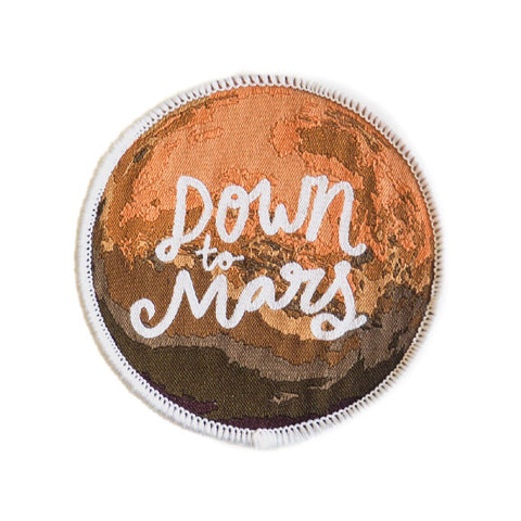 Down to Mars Stick-On Space Patch