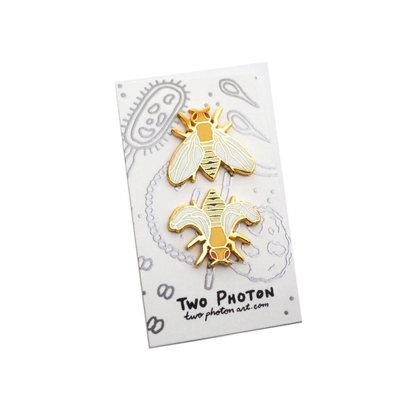 Drosophila melanogaster Enamel Pin Set