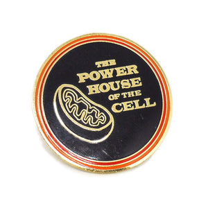 Mitochondria is the Powerhouse of the Cell - Retro Typeset Enamel Pin