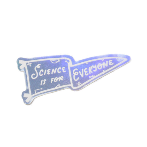 Science is for Everyone - Holographic Team Science Pennant Sticker