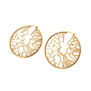 Phylogenetic Hoop Earrings - Gold