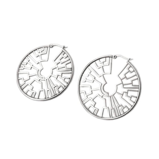 Phylogenetic Hoop Earrings - Silver