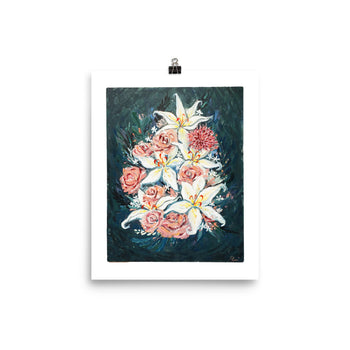 ACLU Fundraiser: Flowers Oil Painting Print