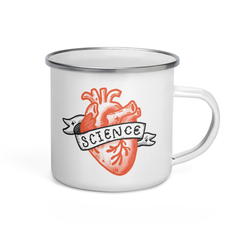 Science Heart Camper Mug