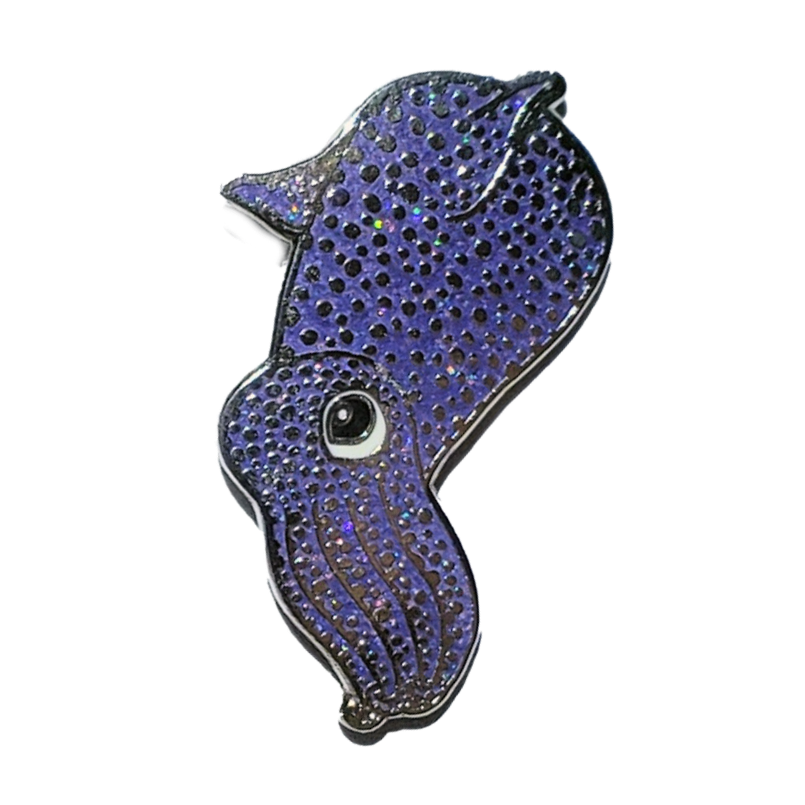 Squid Enamel Pin