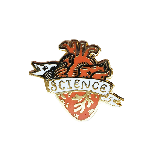 Science Heart Enamel Pin