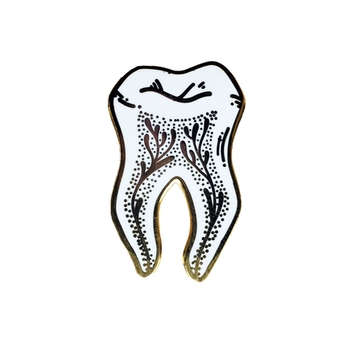 Gold Tooth Enamel Pin
