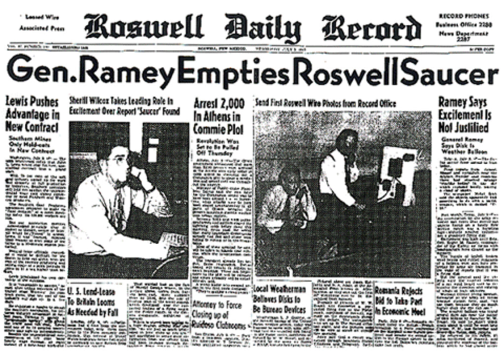 Roswell Daily Record Newspaper - July 9th, 1947