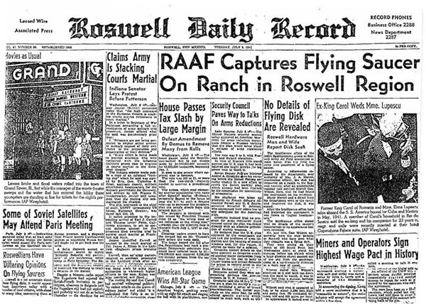 Roswell Daily Record July 8th, 1947 Newspaper