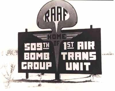 Roswell Army Air Field (RAAF) - 509th Bomb Group Sign
