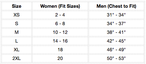 Saucer Pullover Hoodie Size Chart