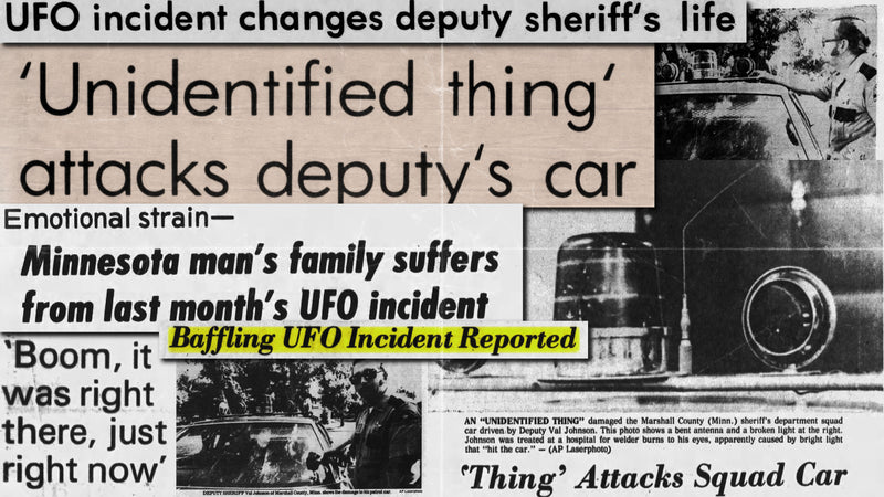Val Johnson UFO Incident Newspaper Clippings