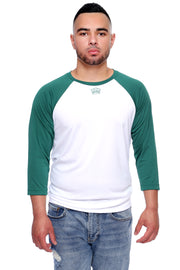 Lucky Green Performance Baseball Tee Model View