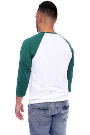 Lucky Green Performance Baseball Tee Back View