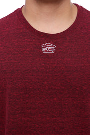 Berry Red Long Sleeve Tee Detail View