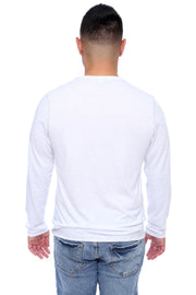 White Long Sleeve Tee Back View