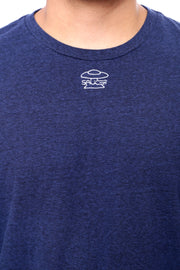 Navy Long Sleeve Tee Detail View