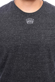 Charcoal Grey Long Sleeve Tee Detail View
