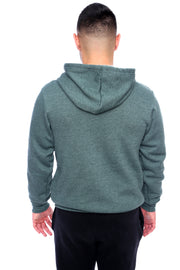 Pine Green Pullover Hoodie Back View